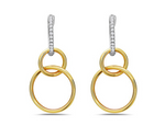 14k Two Tone Gold Interlocking Circles With Diamonds - from Holsten Jewelers