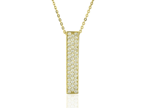 Rectangle Pave Diamond Pendant - from Holsten Jewelers