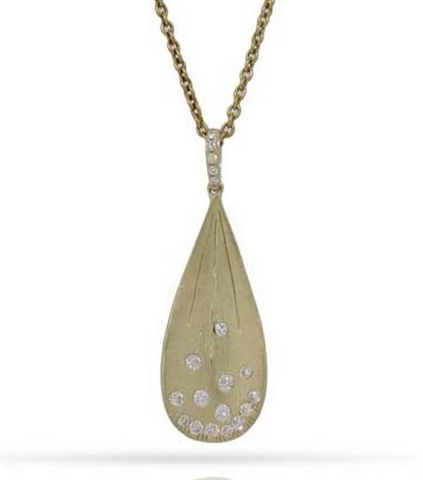 14k Yellow Gold Pendant With Diamonds - from Holsten Jewelers