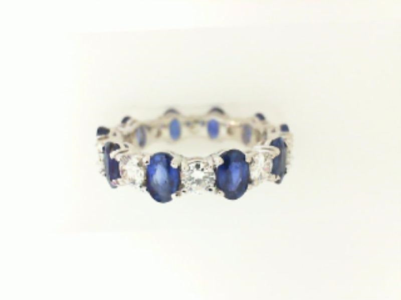 Oval Sapphire & Diamond Eternity Ring - from Holsten Jewelers