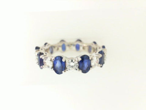 Oval Sapphire & Diamond Eternity Ring