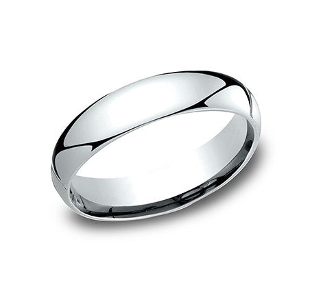 Platinum 4MM Wedding Band - from Holsten Jewelers