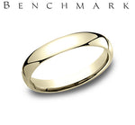 18k Yellow Gold 3mm Comfort Fit Wedding Band - from Holsten Jewelers