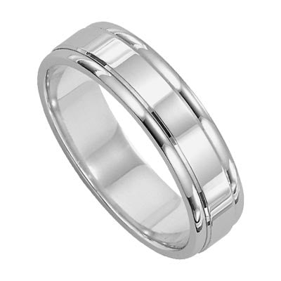 6MM Wide Comfort Fit Wedding Ring - from Holsten Jewelers