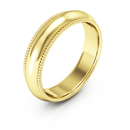 5MM Milgrain Wedding Band - from Holsten Jewelers