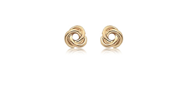 14k Yellow Gold Small Love Knot Earrings