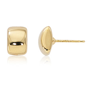 Yellow 14 Karat Modern Rectangle Stud Earrings