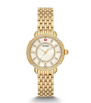 Ladies Gold Plated Michele Sydney Bracelet Watch With Diamonds - from Holsten Jewelers