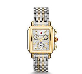 Ladies Two Tone Michele Deco Bracelet Watch - from Holsten Jewelers