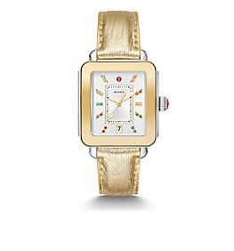 Ladies Michele Deco Sport Watch W/ Rainbow Topaz Dial - from Holsten Jewelers