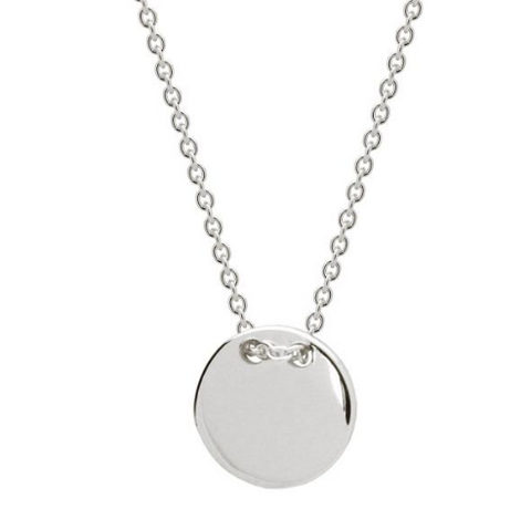 Sterling Silver Round Engravable Disc Pendant