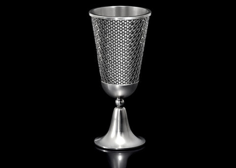 The Lexie Kiddush Cup by Metalace Art