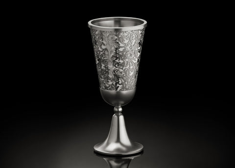 Metalace Art Royal Jacquard Kiddush Cup - from Holsten Jewelers