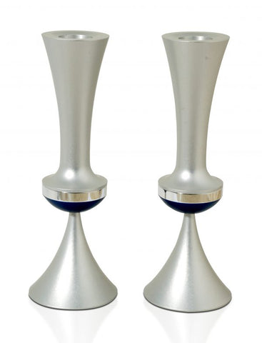 Aluminum Dark and Light Grey Candlesticks