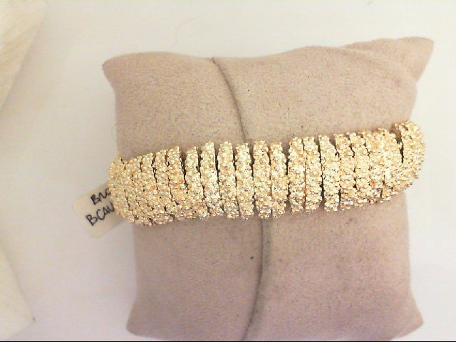 Yellow Bronze Granular Flexi Bangle