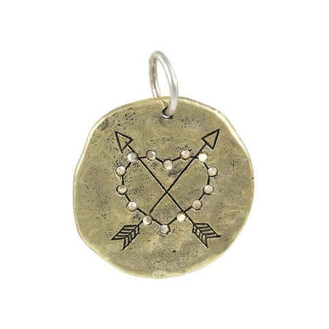 Waxing Poetic Found Again Heart and Arrow Charm - from Holsten Jewelers