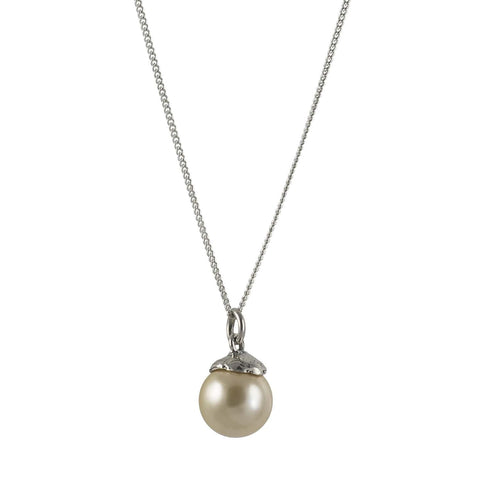 Wisdom Pearl Tiny Light Necklace - Light Gold