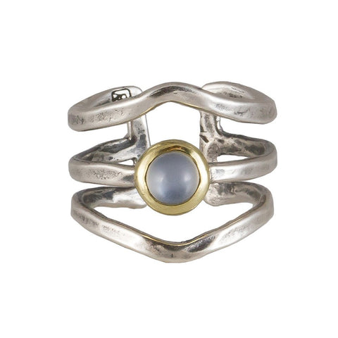 Periphery Triple Ring - Moonstone - Size 6/7