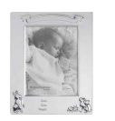 Pewter Bunny Birth Record Frame