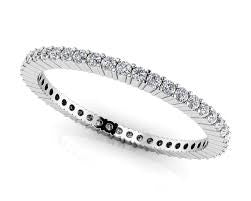 14kt White Gold Single Row Diamond Eternity Band - from Holsten Jewelers