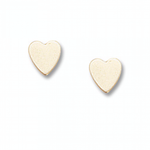 14k Yellow Gold Medium Plain Heart Earrings - from Holsten Jewelers
