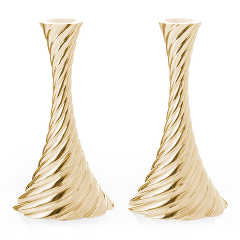 Twist Candleholders- Gold - from Holsten Jewelers