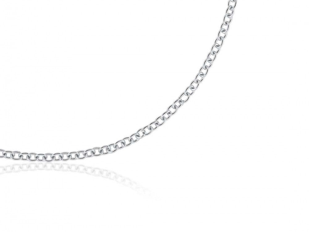 White Fine Cable Chain