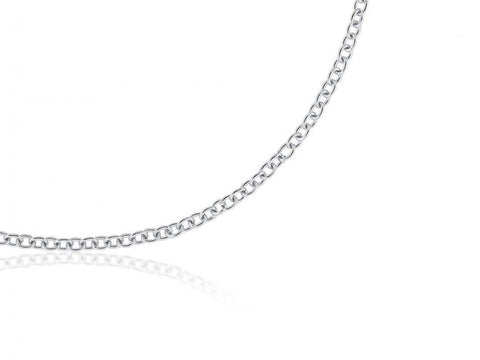 White Fine Cable Chain - from Holsten Jewelers
