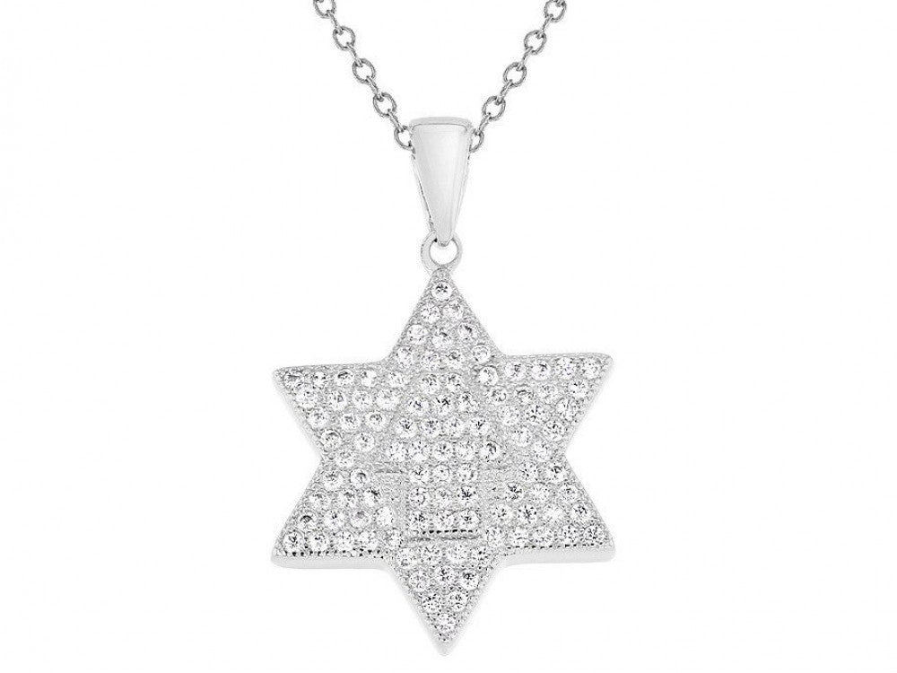Sterling Silver Star Of David Necklace - from Holsten Jewelers