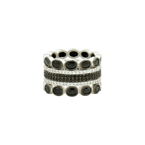 Frieda Rothman Industrial Finish 5-Stack Ring - from Holsten Jewelers