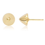 14k Yellow Gold 8mm Cone Stud Earrings - from Holsten Jewelers