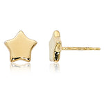 14k Yellow Gold  8mm Flat Star Earrings - from Holsten Jewelers