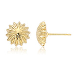 14k Yellow Gold  10mm Scallop Button Earrings - from Holsten Jewelers