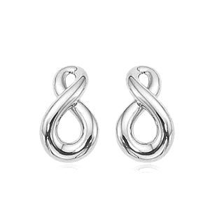14k White Gold Small Figure 8 Earrings - from Holsten Jewelers