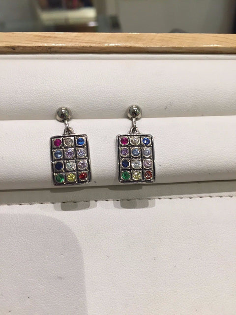 Hoshen Stones Earrings 12 Tribes Israel Bible Priestly Breastplate