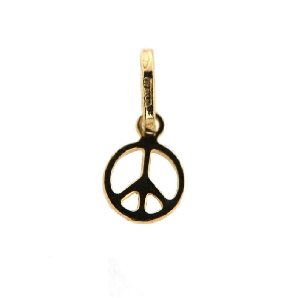 18KT Peace Sign Charm - from Holsten Jewelers