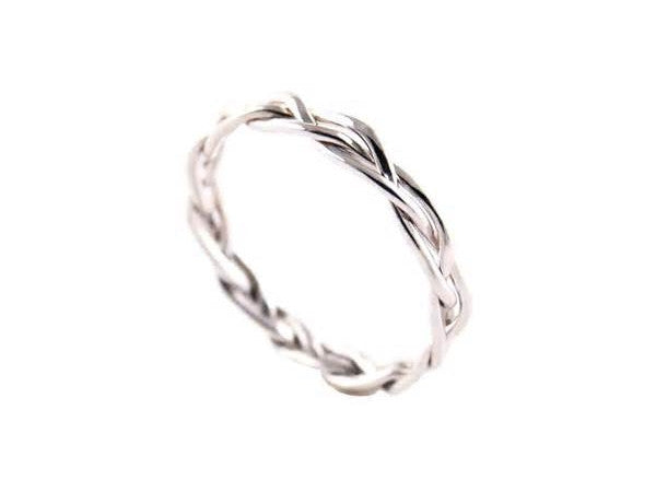 White Gold Wedding Band.White Gold Twisted Wedding Band Holsten Jewelers