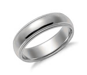 Platinum 5MM Milgrain Comfort Wedding Band