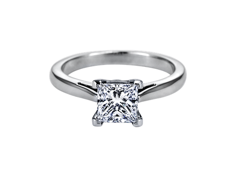 Platinum Princess Cut Solitaire Remount - from Holsten Jewelers
