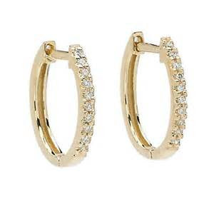 Diamond Huggy Earrings