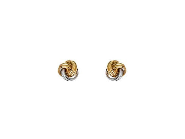 Two-Tone 14 Karat Love Knot Earrings