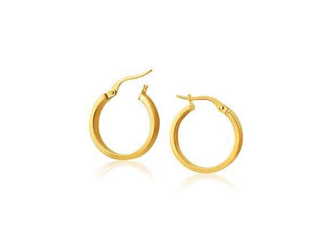 14k Yellow Gold Small Square Tube Hoop Earrings - from Holsten Jewelers