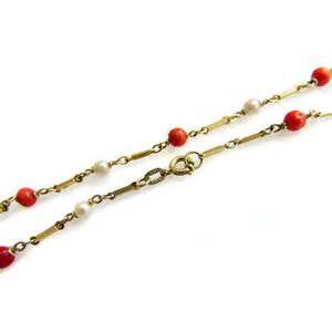 Red Enamel Ball Ankle Bracelet - from Holsten Jewelers