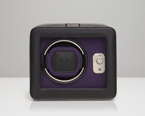 Windsor Single Winder with Cover Black/Purple - from Holsten Jewelers