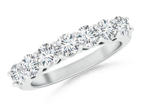 Platinum Seven Diamond Wedding Band