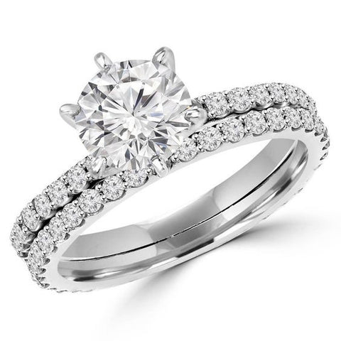 Round Diamond Solitaire Engagement Ring with Eternity Shank