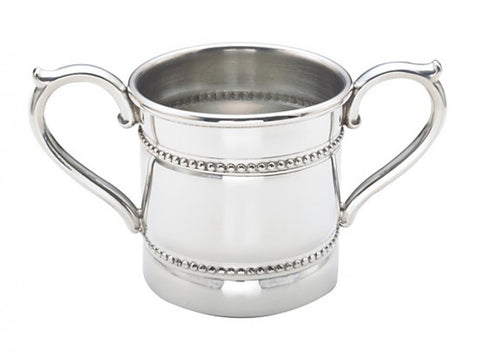 Pewter Baby Beads Double Handled Cup - from Holsten Jewelers