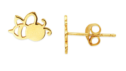 14k Bee Stud Earrings