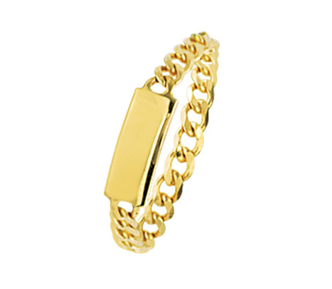 14k Mini Id Place Chain Ring