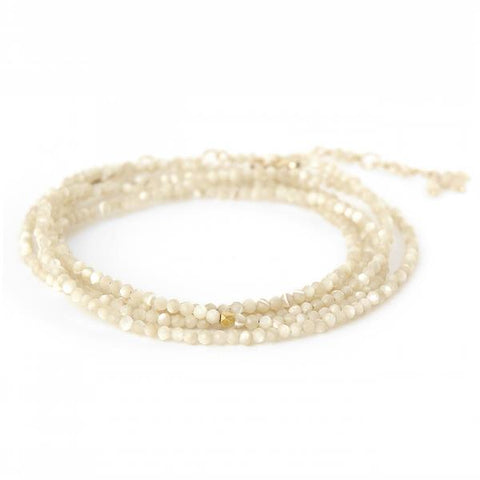 Mother of Pearl Beaded Wrap Bracelet